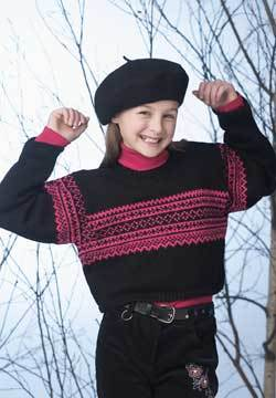 Cropped Norwegian Sweater Knitting Pattern Favecrafts Com