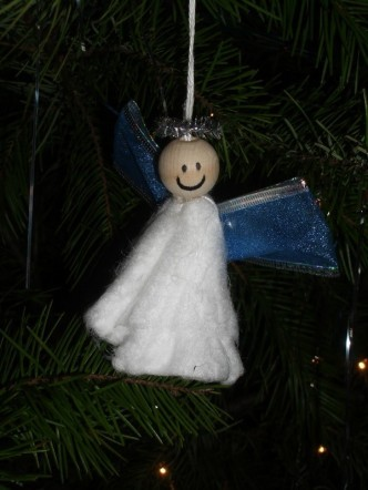Unique Tampon Angel Christmas Ornament Favecrafts Com