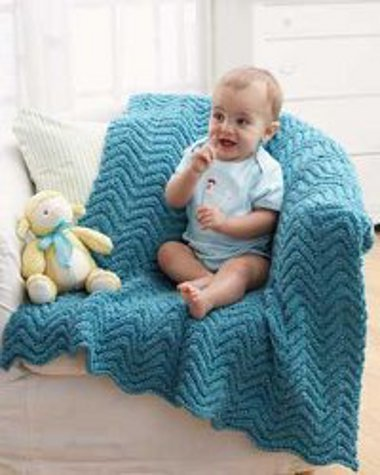 Knit Ripple Blanket Favecrafts Com
