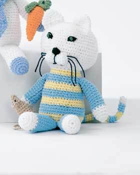 Amigurumi Mouse Cat Toy : Cat and Mouse Toy Crochet Pattern FaveCrafts.com