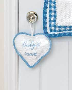 Heart Baby Room Sign