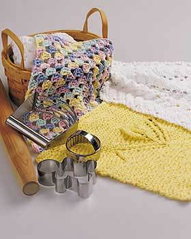 Sirdar Snuggly Knitting Patterns : Feathered Dishcloth Knitting Pattern FaveCrafts.com