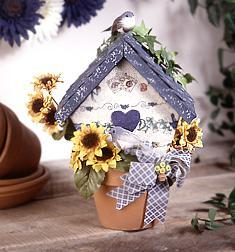 Clay Pot Spring Birdhouse