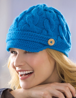 Cable Newsboy Cap Knitting Pattern Favecrafts Com