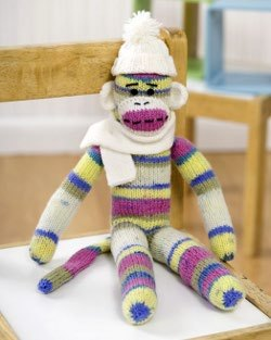 Sirdar Snuggly Knitting Patterns : Sock Monkey Knitting Pattern FaveCrafts.com