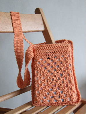 Cute Crochet Book Bag