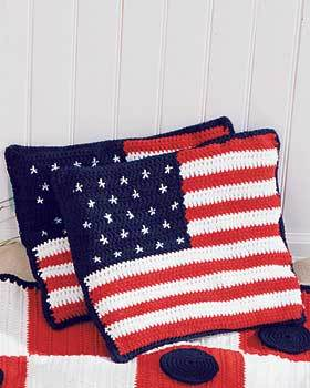 American Flag Cushions Crochet Pattern Favecrafts Com
