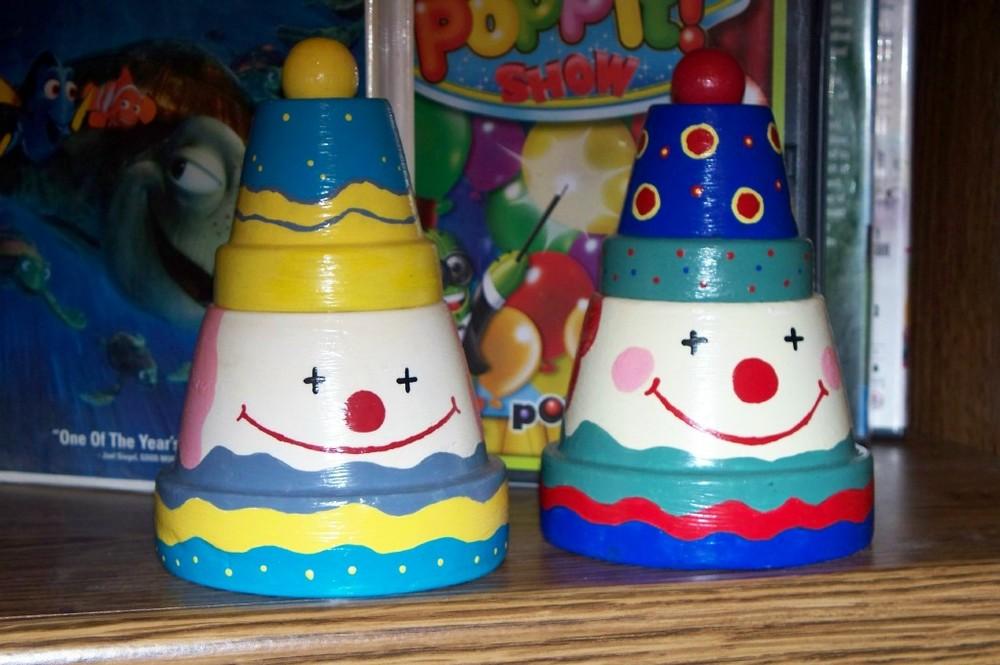 Clown Clay Pots Favecrafts Com