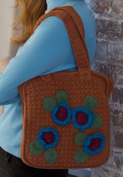 Felted Posy Flower Bag Crochet Pattern From Red Heart