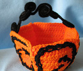 Orange Halloween Candy Dish