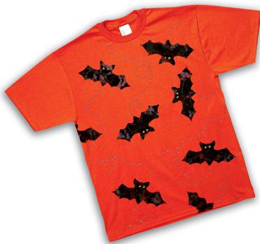 9 halloween tee shirts and apron crafts - Homemade Halloween Shirts