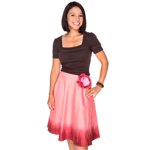 Pink Berries Tie Dye Skirt