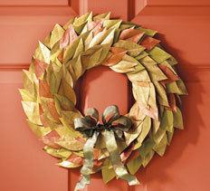 Metallic Autumn Leaves Wreath