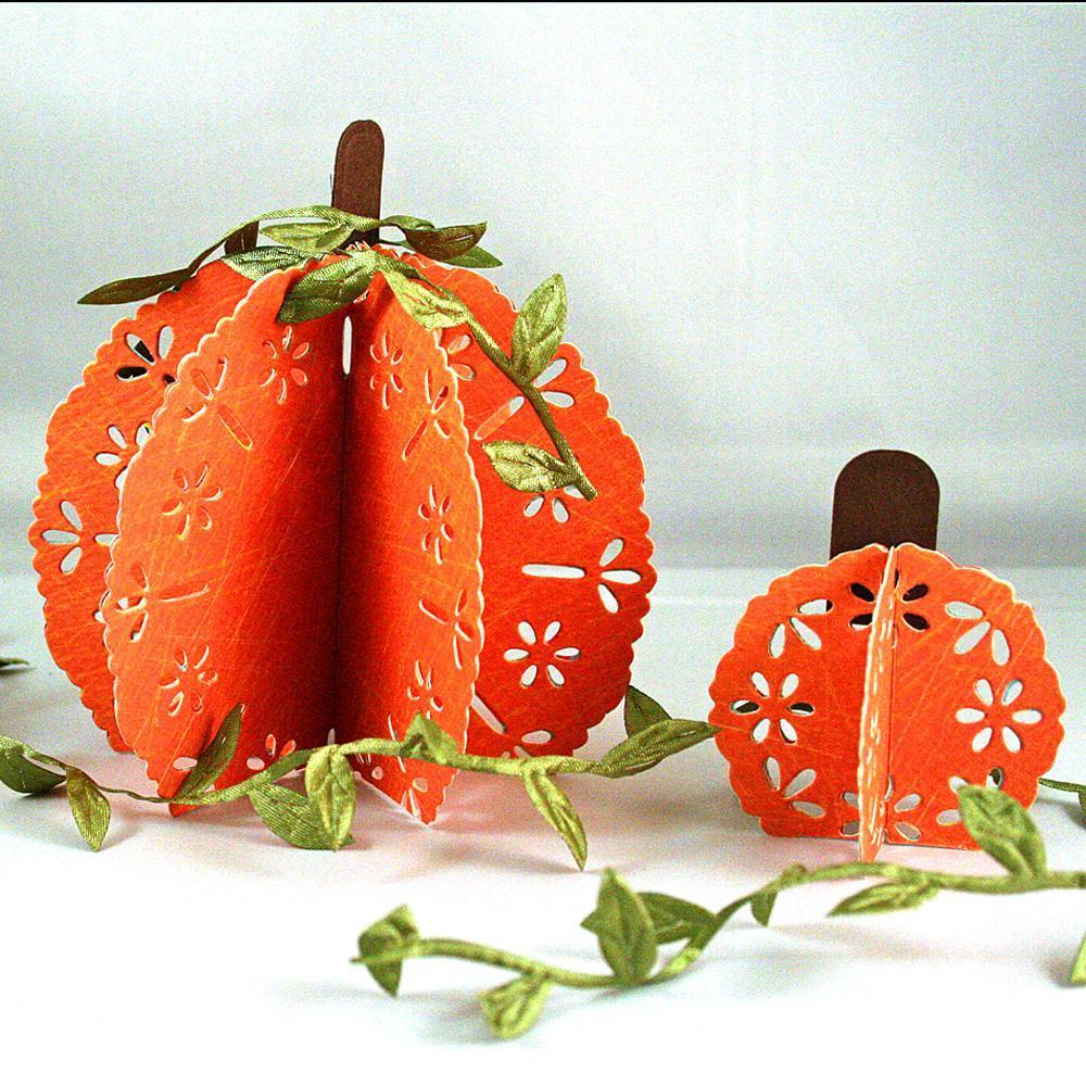Eyelet Paper Pumpkins From Spellbinders