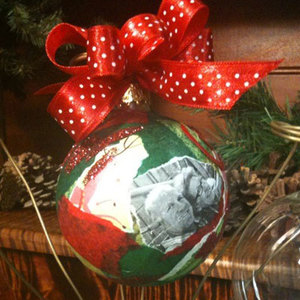 Decoupage Holiday Ornament