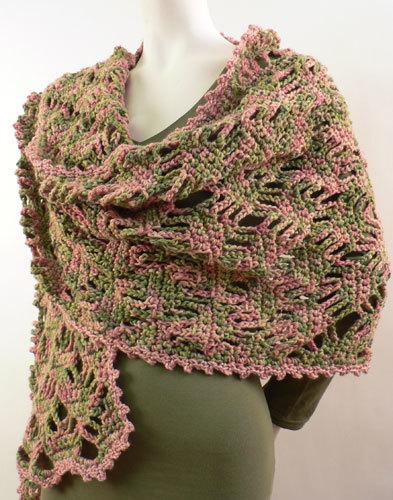 Lace Lattice Wrap Crochet Pattern From Caron Yarn