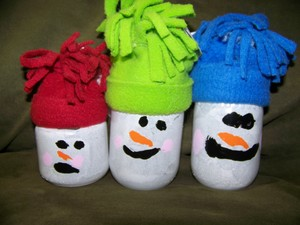 Fleece Hat Snowman Jars