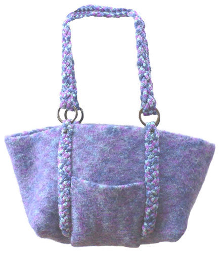 Knitting Yarn Bag Pattern : Felted Bag with Braided Handles Knitting Pattern from ...