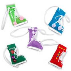 Festive Ice Skate Ornaments
