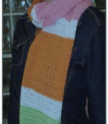 Colorful Block Scarf