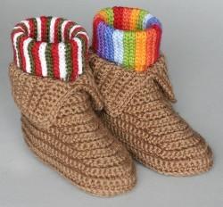 49 Easy Crochet Slippers For Adults And Kids Allfreecrochetcom