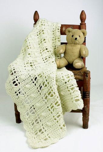 Natural Baby Blanket Crochet Pattern From Caron Yarn