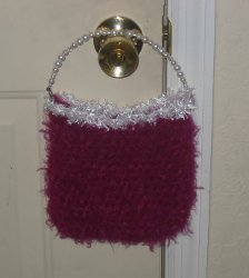 Bubblegum Crochet Purse