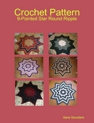 A 9 Pointed Star Round Ripple Afghan