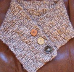 A Basket Weave Crochet Neck Warmer   FaveCrafts.com