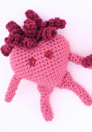 Crochet Pattern Amigurumi Turtle Crochet Keychain : Valentine Amigurumi Heart FaveCrafts.com