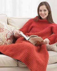 An Afghan with Sleeves Crochet Pattern