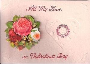 All My Love Stitched Card