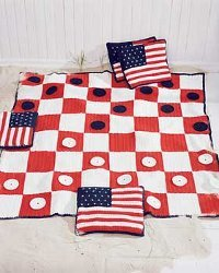 A Checkers Game Afghan