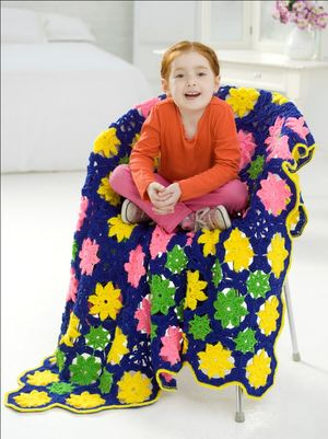 Kids Flower Throw