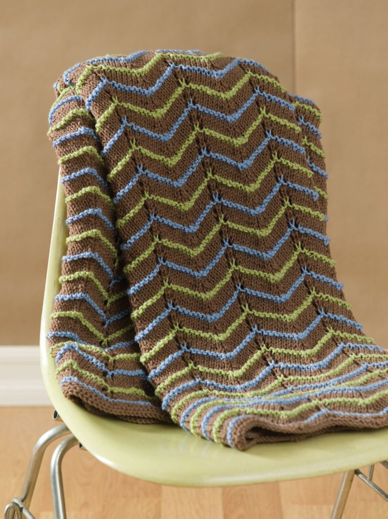 Earth Tone Knit Afghan Favecrafts Com