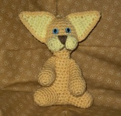 Clyde the Golden Crochet Cat