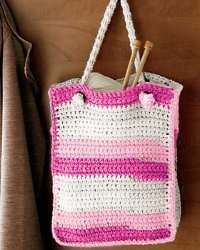Pink Striped Bag
