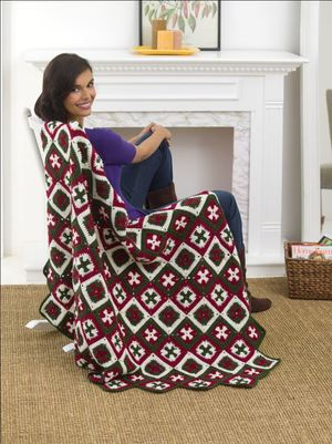 Southern Cross Afghan Crochet Pattern From Red Heart Yarn