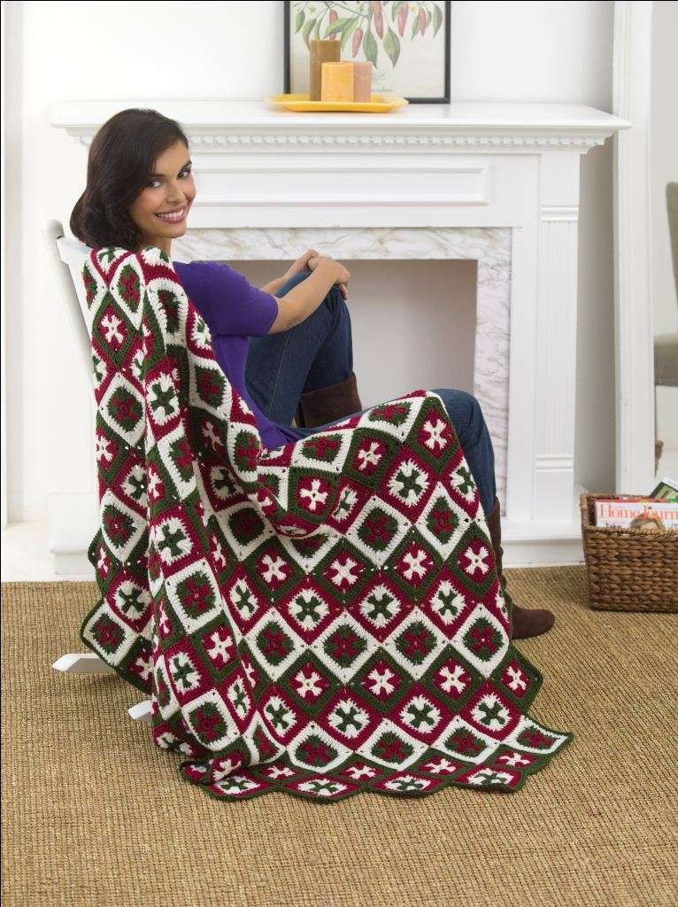 Southern Cross Afghan Crochet Pattern From Red Heart Yarn