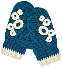 Retro Crocheted Mittens