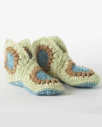 Multi Color Granny Slippers