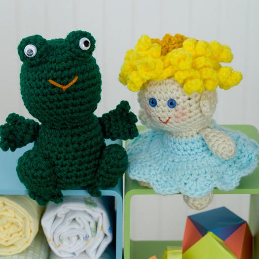 Red Heart Yarn Amigurumi Patterns : Princess and Frog Crochet Pattern from Red Heart Yarn ...
