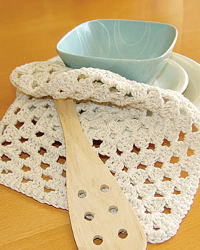 A Grannys Square Dishcloth