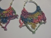 Beaded Crown Crochet Earrings