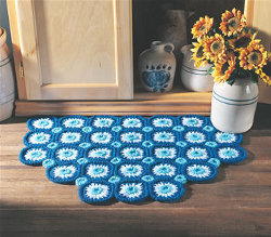 Bachelor's Button Rug