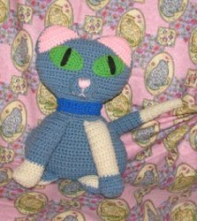 A Blue Crochet Kitty