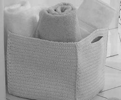 Easy Crochet Spa Basket
