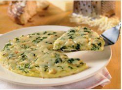 Caramelized Onion and Spinach Frittata with Cabot Reduced Fat Cheddar