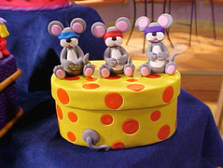 Three Blind Mice Trinket Box