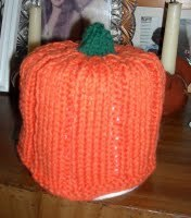 Pumpkin Toilet Paper Cozy